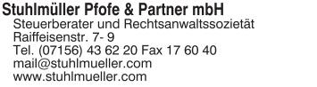 Stuhlmüller Pfofe & Partner mbH